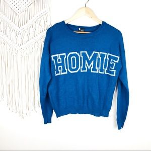 Sparkle & Fade • 'Homie' Graphic Sweater